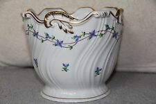 Herend Blue Garland Porcelain Cache Pot Jardenere Planter Flowers