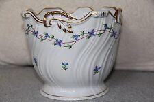 Herend Blue Garland Porcelain Cache Pot Jardenere Planter Flowers