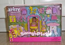 NEW Mattel Barbie Sister Krissy AA Swing'n Play Playset Baby Doll 2001 54218