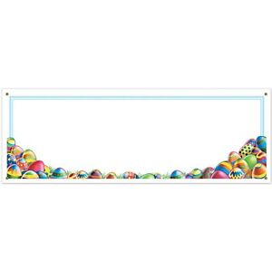 Easter Egg Hunt Spring Theme Holiday Party Decoration Sign Banner