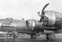 a B-29 Superfortress flying lead bomber on the first WW2 War Photo 4x6 inch O