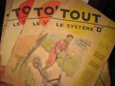 """Lot de 59 revues Tout le Système D  """" Bricolage """"  ( détail dans l'annonce )"""