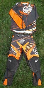 Moose Racing Parts Unlimited M1 Motocross BMX Racing Pants Shirt Kit Extra Pads