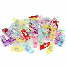 Pack of 20 50/100 Wonder Clips For Fabric Craft Quilting Knitting Sewing Crochet