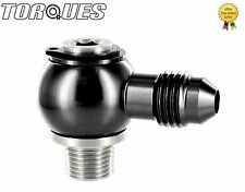 """AN -4 (4AN ) Banjo Adapter To 1/8"""" NPT Stainless Steel Banjo Bolt Assembly BLACK"""