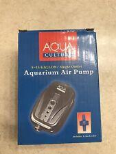 Aqua Culture 5-15 Gallon Single Outlet Air Pump, Brand New In Box.