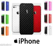 For Apple iPhone Skin Case Wrap Sticker Decal Textured Carbon Fibre Protector