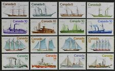 D1121A CANADA 1975-1976, Scott #670//779 Wonderful set of 16 Ships Mint NH