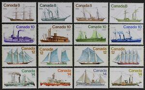 CANADA 1975-1976, Scott #670//779 Wonderful set of 16 Ships Mint NH