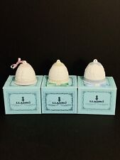 Vintage Lladro 1987, 1988, 1990 Christmas Bell Ornaments Retails $50 Each