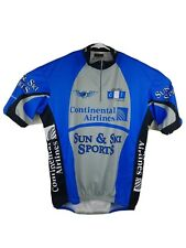 Vomax Continental Airlines and Sun & Ski Sports Blue Cycling Jersey Size 4 L
