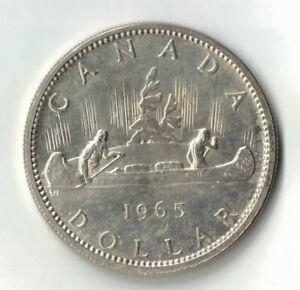 1965 Canada $1, KM 64.1, 0.500 silver 23.33 g