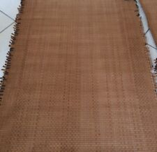 EDELMAN LEATHER Woven Suede caramel fringed edge basketweave durable heavy new