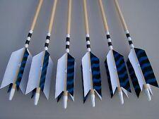 6 New Cedar Wood Traditional ARCHERY   Arrows LONG BOW  FLU-FLU 50/55