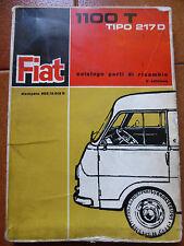 rarissimo manuale FIAT 1100 T TIPO 217D catalogo parti di ricambio