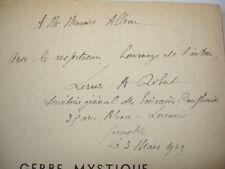 LA GERBE MYSTIQUE  Louis A. Robert  avec envoi de l'auteur  !