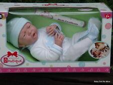 Berenguer *  18056 * La Newborn Real Boy 15 Inch Doll in Blue Heart Romper