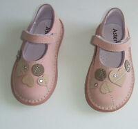 ASTER CHAUSSURES BABIES EN CUIR FILLE POINTURE 24 ROSE POUDRE