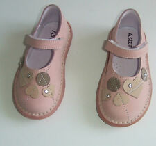 ASTER CHAUSSURES BABIES EN CUIR FILLE POINTURE 24 ROSE POUDRE