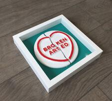 Dean Zeus Coleman - Broken Arted - Love Heart Sculpture Framed Original