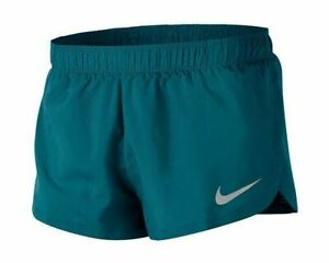 "NEW Nike Men's Dri-Fit 2"" Split Lined Running Training Shorts AQ5333 Green XL"