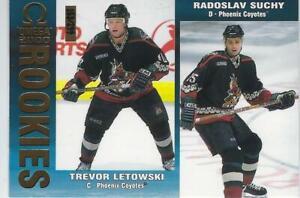 1999-00 Pacific Omega Gold Rookies #186 Trevor Letowski - Radoslav Suchy 153/299