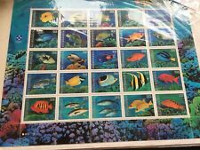 Micronesia nhm miniature sheet of 25 different fish pristine