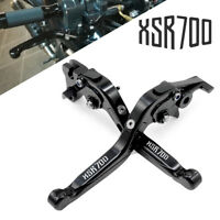 For Yamaha XSR 700 ABS 2016-2018 with logo Aluminum Folding Brake Clutch Levers
