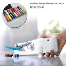 1 Set Mini Handheld Sewing Machine With 24 Spools Set thread Mixed Colors GA
