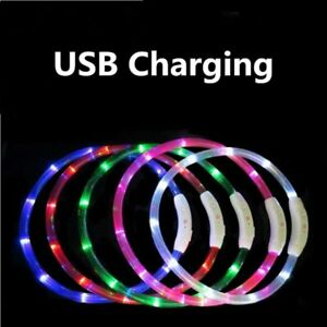 Night Flashing Dog USB Rechargeable Safety Collar Pet Collar LEDlight Dog Collar