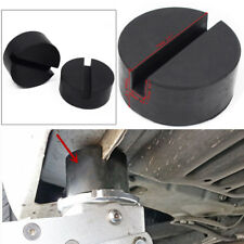 Pair Slotted Rail Floor Jack Disk Rubber Pad Adapter for Pinch Weld Side Perfect
