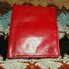 Big Skinny Leather Passport Bi-fold Wallet (Red)