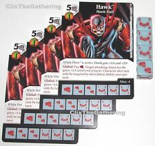 4x HAWK: HANK HALL 16/124 Batman Dice Masters DC