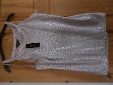 ladies gold shimmer vest top  new 18