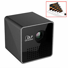 Mini Home Theater Multimedia,1080P HD P1 LED DLP Projector, USB/TF Travel JS