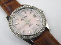 Ladies Rotary LB02660-07 Havana PINK Mother of Pearl Watch - 100m