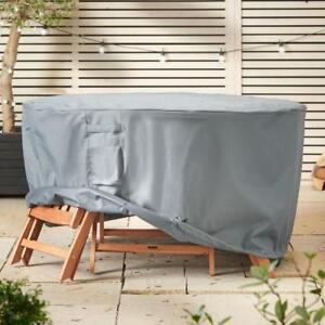 Medium Grey Outdoor Waterproof Canvas Clips Cover For Round Dining Garden Table