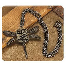 Steampunk Dragonfly Necklace Victorian Costume Antique Cyber Cogs Cosplay Gift