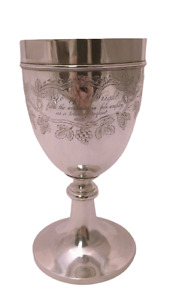 Early American Coin Silver Goblet