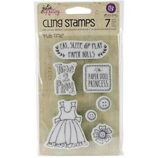 Prima Julie Nutting Cling Rubber Stamp #910730 Play Time Paper Doll Princess