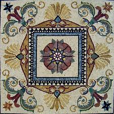 "28""x 28"" Handmade Marble Mosaic  Art Tile Stone Wall Mural Art Floor Decor"