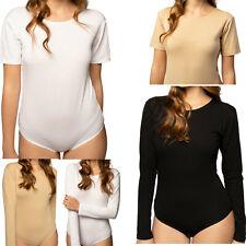Avely Damen Body Kurzarm Langarm Bodysuit