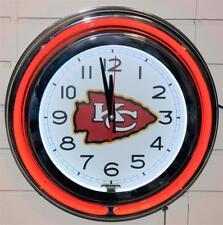 Kansas City Chiefs Neon Clock New Quartz Wall Clock NFL Lifestyle Lighting