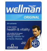 NEW Vitabiotics Wellman Original Multi Vitamin Minerals for Men 30' tablet
