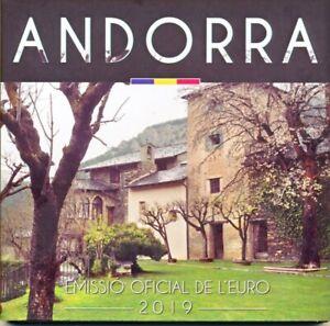 Andorra Euro-KMS 2019 BU/Stempelglanz, 1 Cent - 2 € Satz 8 Münzen komplett