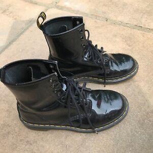Black Patent Leather Doc Martens (Dr. Martens) Size 5 Used