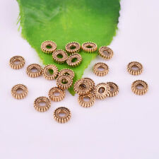 100pcs Antique Gold Charm Loose Spacer Beads Jewelry Findings DIY 6mm