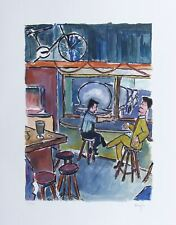 Bob Dylan Truck Stop Signed Giclee Etching - Contemporary Art