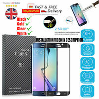 Black Full Curved 3D Tempered Glass Screen Protector For Samsung Galaxy S7 Edge