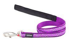 Red Dingo Dog/Puppy Lead - Flying Bones Purple - 1.2m / 4ft - FREE P&P